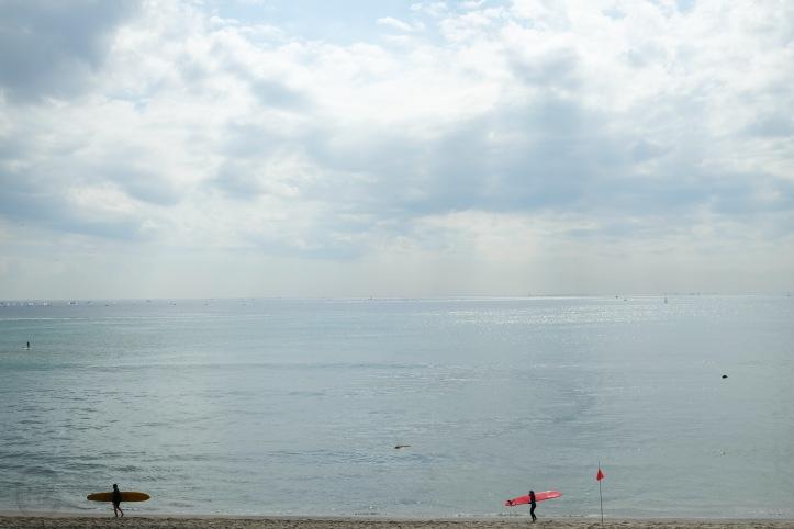 kamakura-enoshima-beach-ocean-sunset