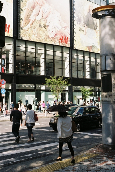 Saul Leiter inspired street photography Tokyo analogue-7