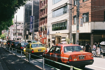 Saul Leiter inspired street photography Tokyo analogue