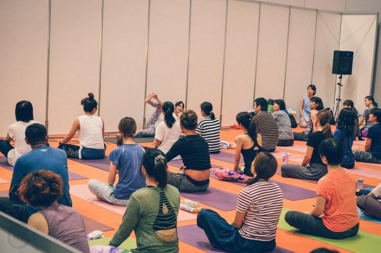 Practising Yoga Yogafestival Tokyo