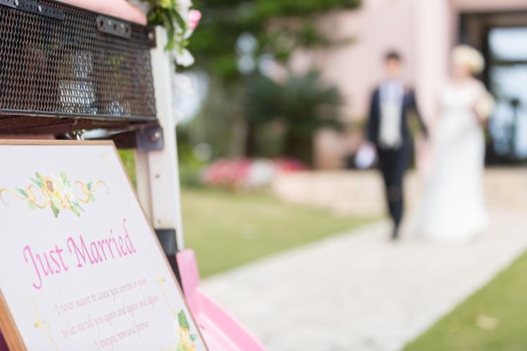 Just married Miyakojima Traumhochzeit