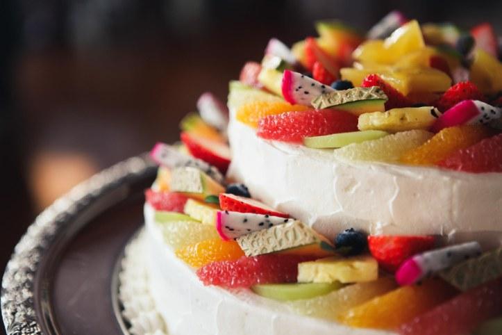 Wedding cake Hochzeitskuchen exotisch