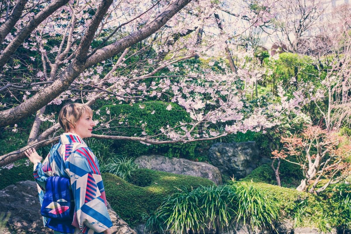Sakura und Kimono