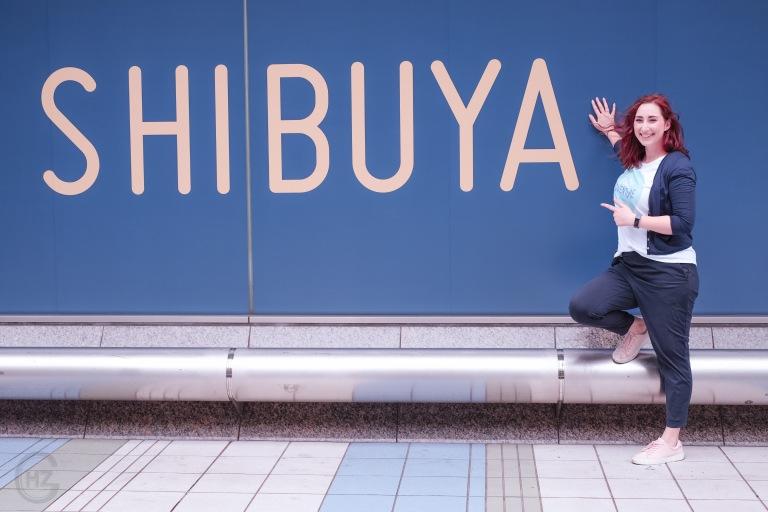 Shibuya crossing vegan lunch Tokyo sightseeing