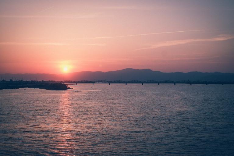 Tokushima sunset ocean
