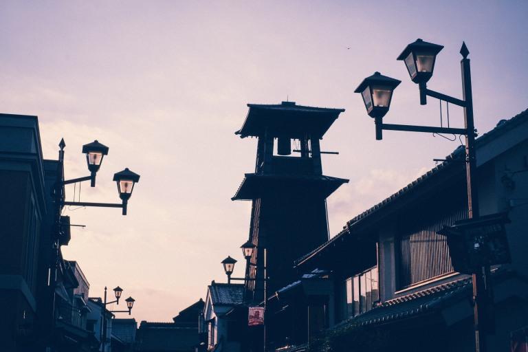 Kawagoe Japan Sightseeing Stadtbild Nostalgie